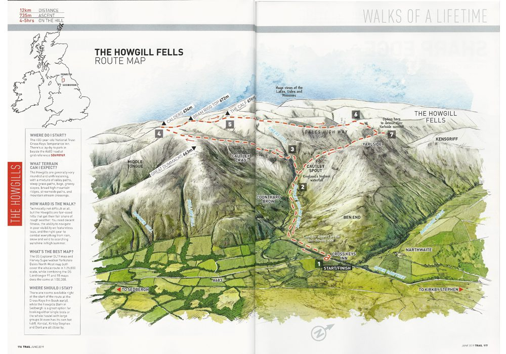 Howgill Fells Map